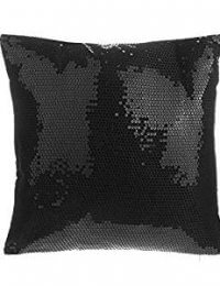 Black Decorative Sequins Pillow