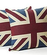 Pair Of 18in x 18in Vintage Union Jack Cushions