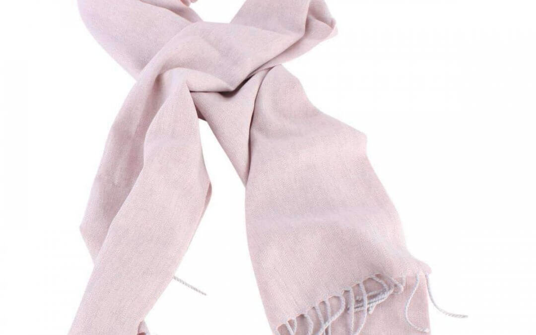 Bassin and Brown Arethusa Self Lined Wool Scarf – Pink