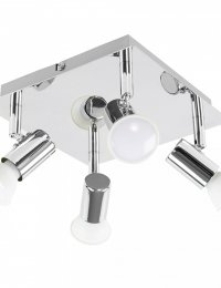 4-Way Square Plate Spotlight in Chrome