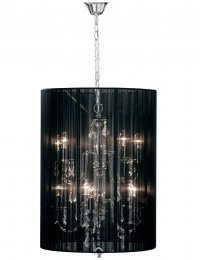 Antique French Style Black Calice Chandelier