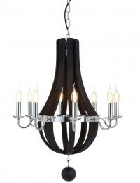 Black Kensington Townhouse Chandelier