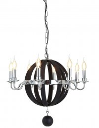 Black Round Kensington Townhouse Chandelier