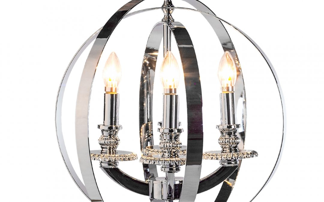 Chrome Sphere Chandelier