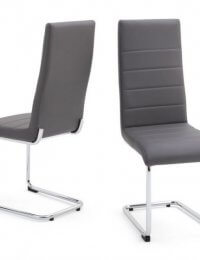 Fairmont Hugo Leather Dining Chairs Pair
