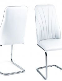 Fairmont Malissa Leather Dining Chairs Pair