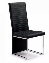 Julian Bowen Tempo Black Leather Dining Chair