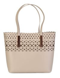 Ted Baker Sylviee Cut-out Detail Leather Bag Cream