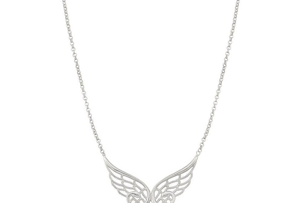 Angel Double Silver Necklace