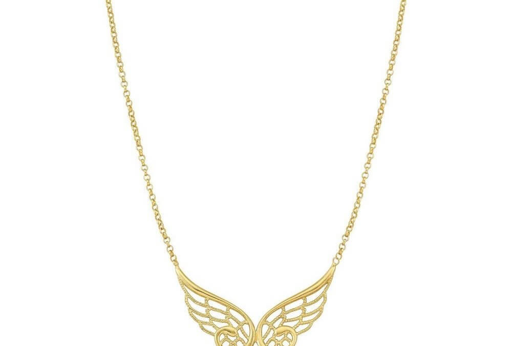 Angel Double Yellow Gold Necklace