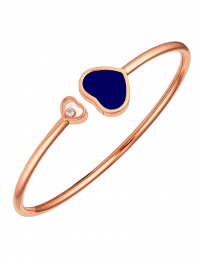 CHOPARD Happy Hearts 18ct Rose Gold Lapis Lazuli Diamond Bangle