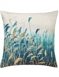 CLARISSA HULSE Water Reeds Cushion 45cm x 45cm Teal