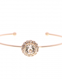 GOLDSMITHS TED BAKER Sappelle Gold Coloured Crystal Daisy Cuff