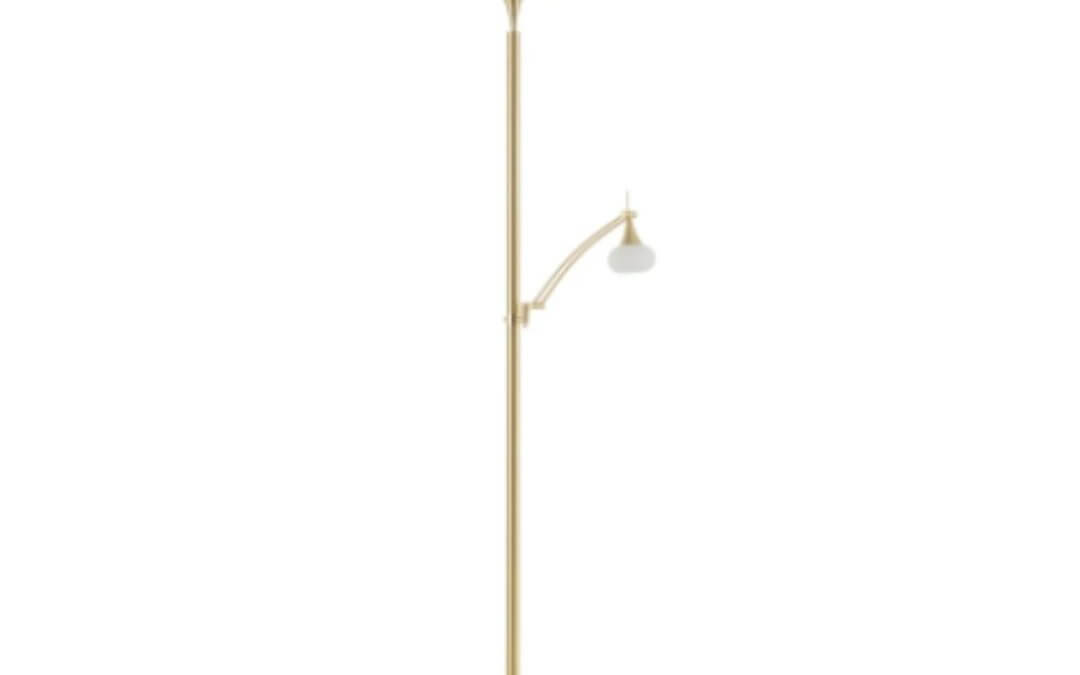 BANKAMP Opera uplighter reading arm dimmable brass