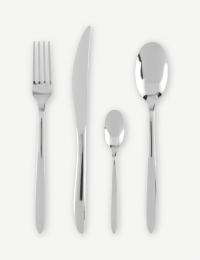 Akaa 16 Piece Stainless Steel Cutlery Set, Mirror Polished Finish
