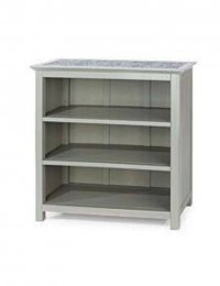 Perth Low Bookcase With Stone Top Grey