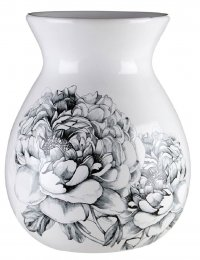 Premier Housewares Medium Bloom Vase - Dolomite White:Black