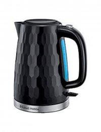 Russell Hobbs 26051 Honeycomb Textured 3000W Cordless Electric 1.7L Kettle - Black