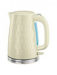 Russell Hobbs 26052 Honeycomb 1.7L Cordless 3000W Electric Jug Kettle - Cream
