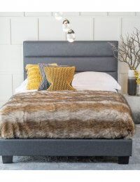 Urban Deco Rio Charcoal Grey Fabric 5ft King Size Bed